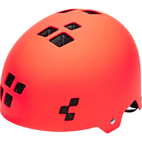 Cube Dirt Helmet Barn flashred